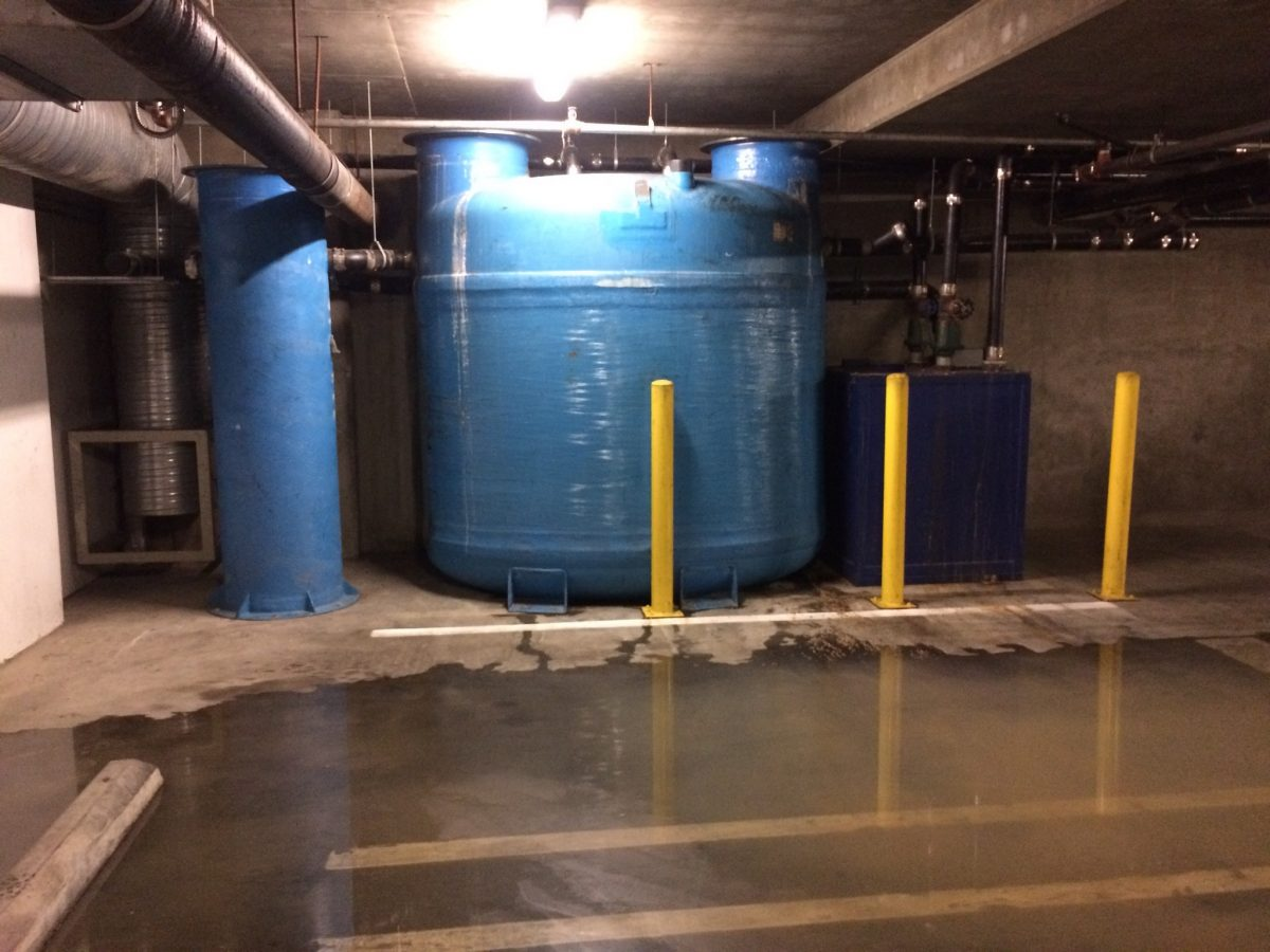 Grease Trap Under Parking Garage