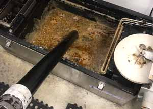 Lancaster city make it known that all grease traps and grease interceptors are to be pumped when the content reaches 25% FOGS waste capacity.  All grease devices from restaurants must be cleaned by removing all cotent inside.